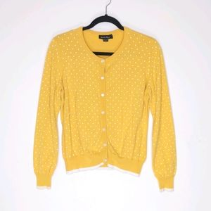 Charlie Paige Polka Dot Cardigan Sweater